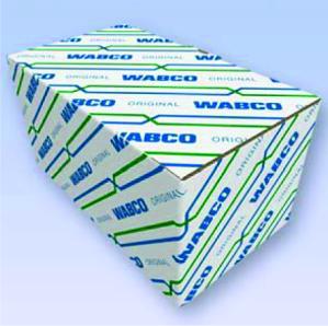 Nový design kartonových boxů... Modré linie představují bezpečnost, zelené linie představují efektivitu.